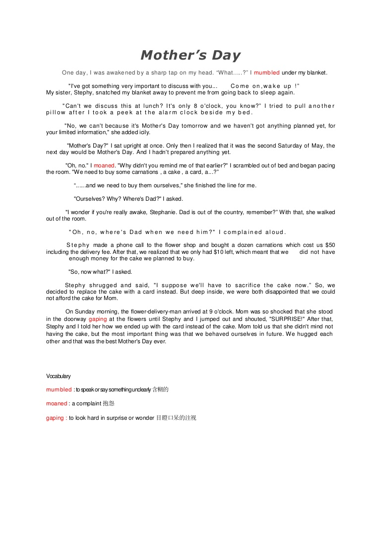 002 Mothersday Phpapp02 Thumbnail Mothers Day Essay Top In Kannada Contest Mother's Telugu Full