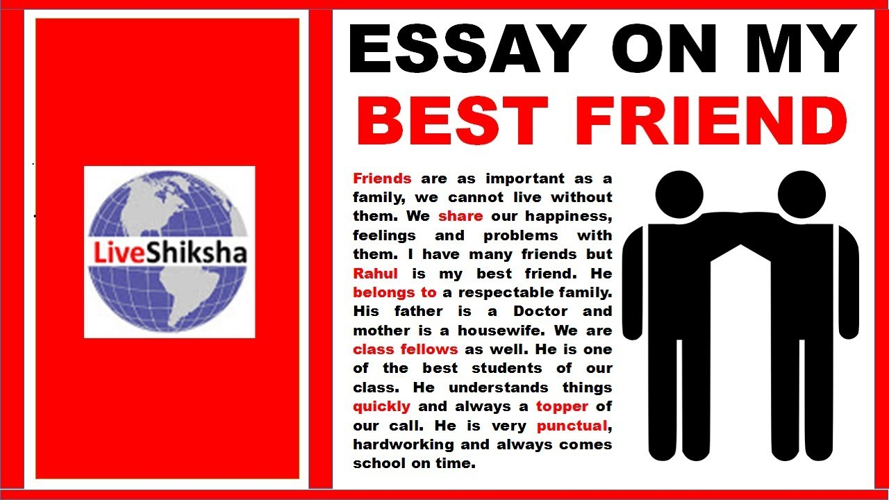 002 My Best Friend Essay In English Maxresdefault Sensational For Class 8 Pdf 2 Full