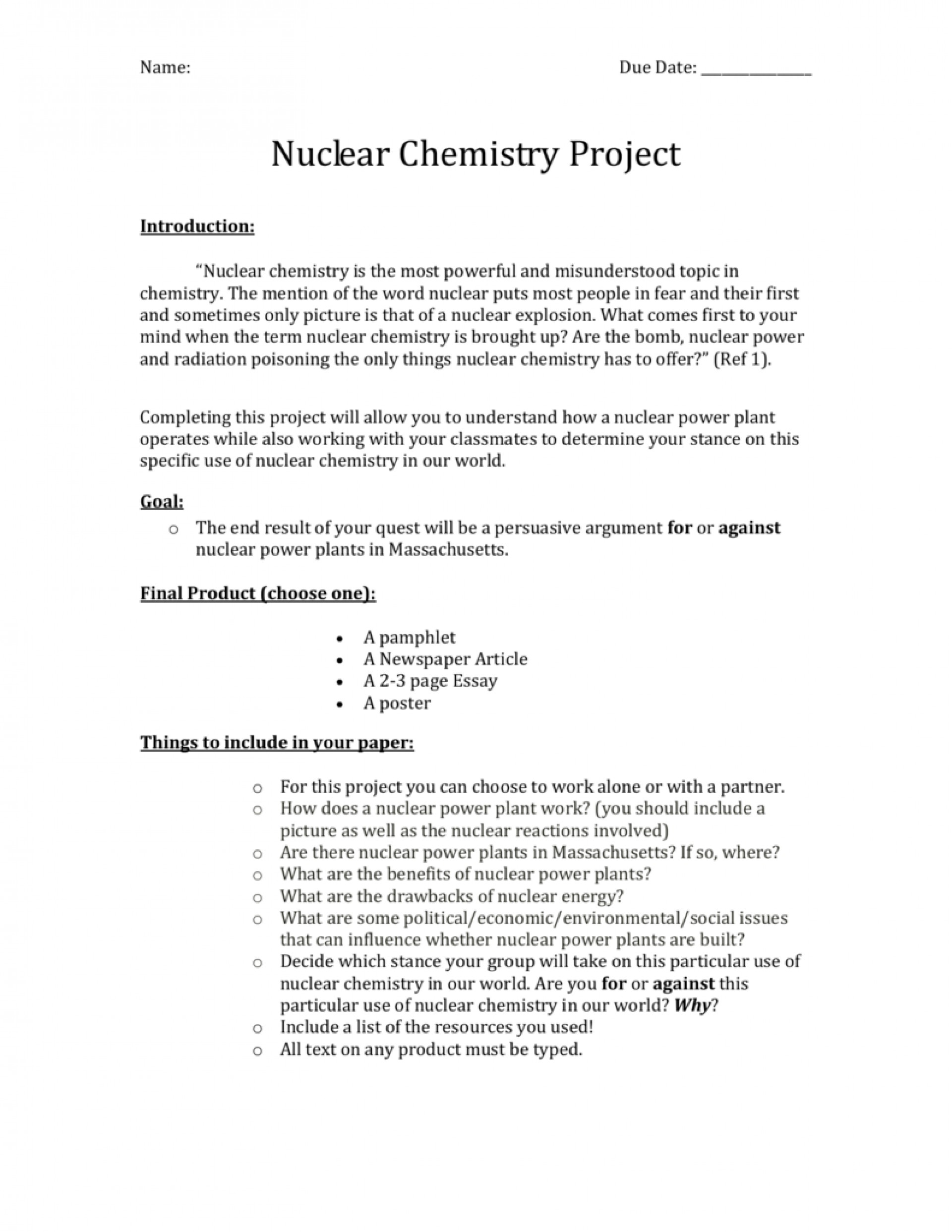 002 Nuclear Chemistry Essay 007069203 1 Awesome Advantages And Disadvantages 1920