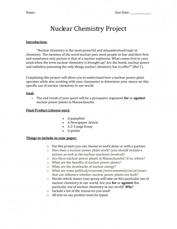 002 Nuclear Chemistry Essay 007069203 1 Awesome Advantages And Disadvantages 360