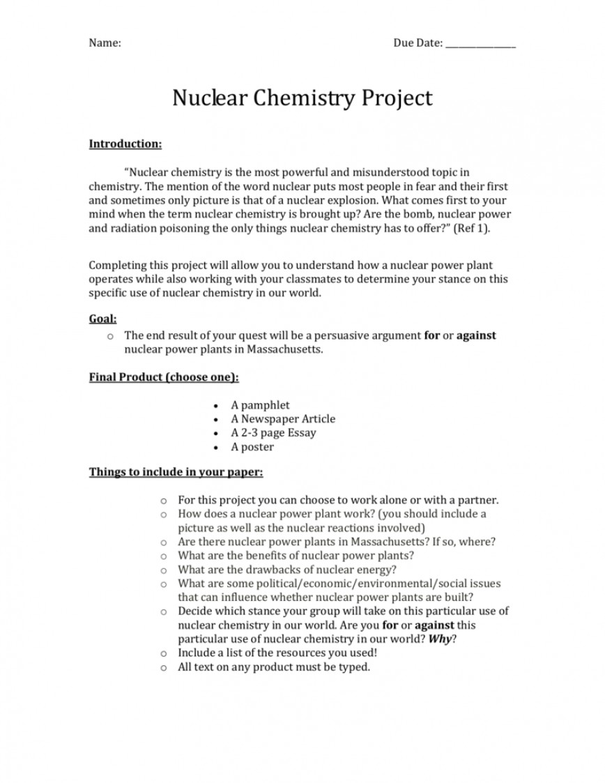 002 Nuclear Chemistry Essay 007069203 1 Awesome Advantages And Disadvantages 868