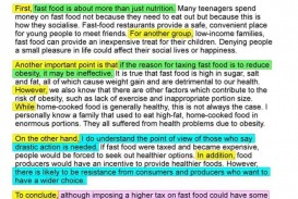 002 Opinion Essay About Fast Food Unbelievable Example An British Council