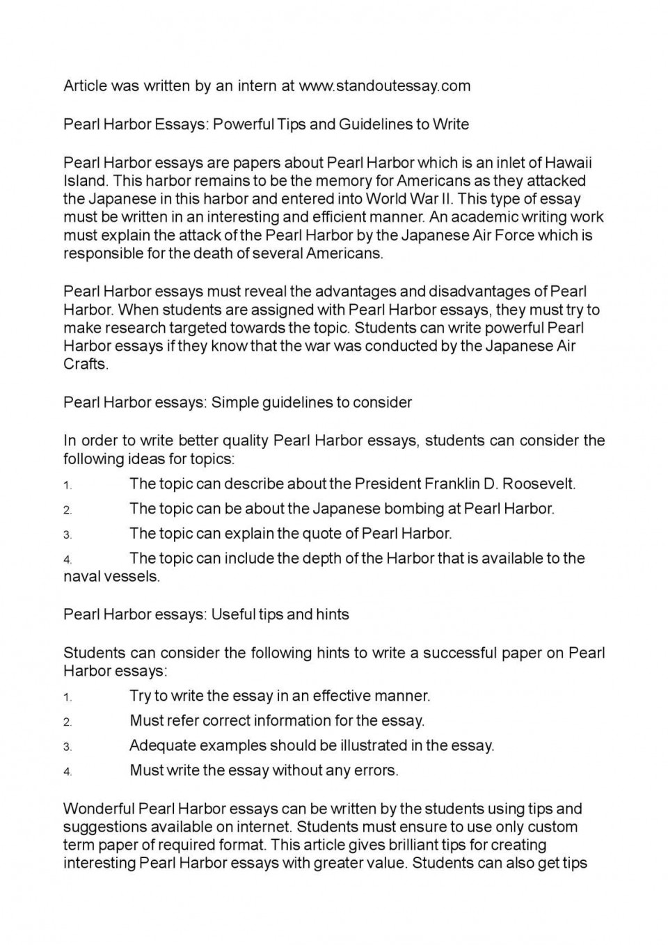 002 P1 Essay Example Pearl Striking Harbor Titles Conclusion 960