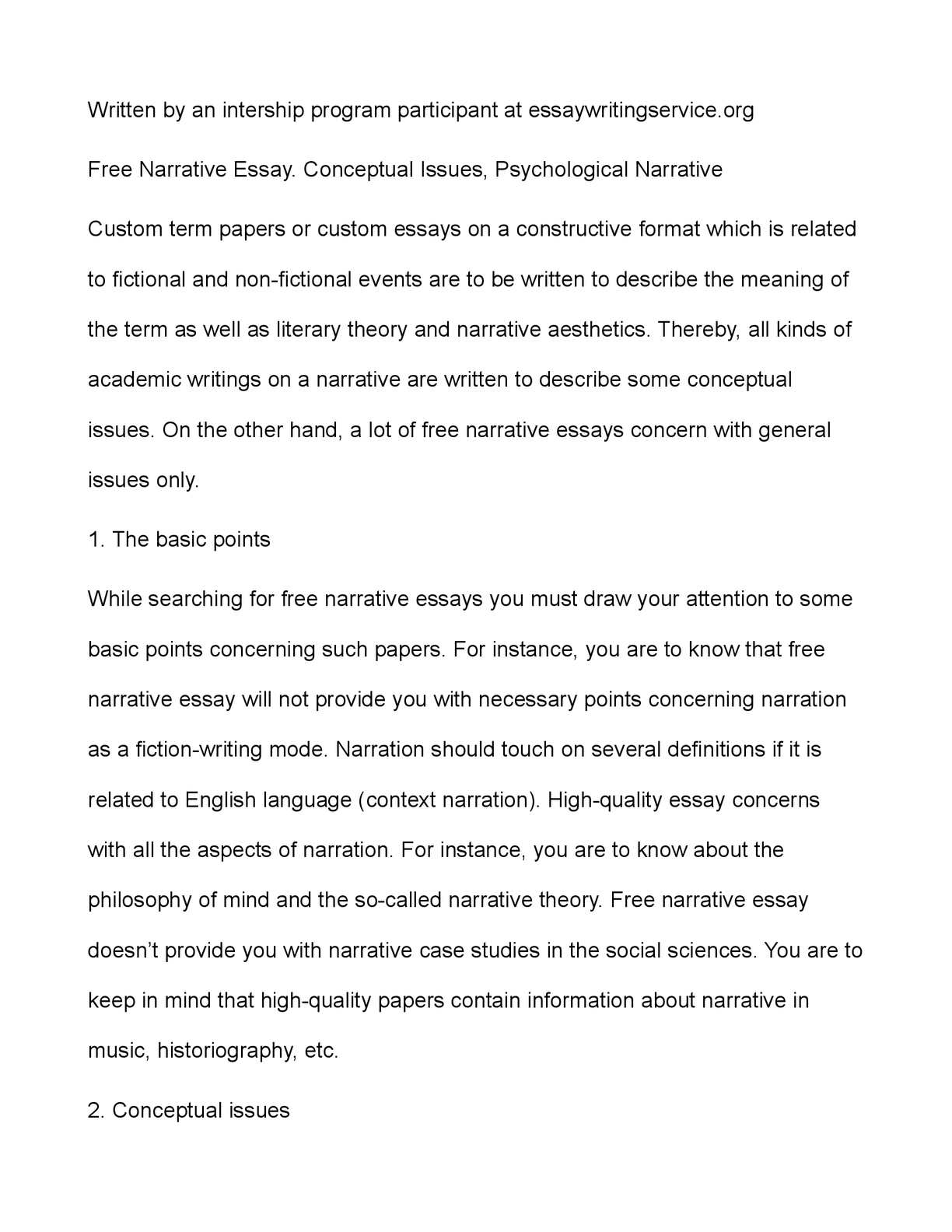 002 P1 Free Narrative Essays Essay Breathtaking Personal Experience About Love Generator Full