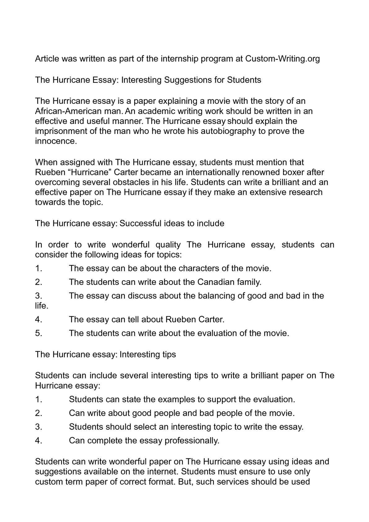 002 P1 Hurricane Essay Rare Conclusion Sandy Katrina Full