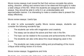 002 P1 Movie Review Essay Exceptional Example Thesis Statement Samples