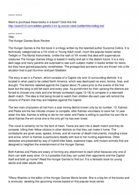 002 Page 1 Essay Example The Hunger Games Book Imposing Review 480