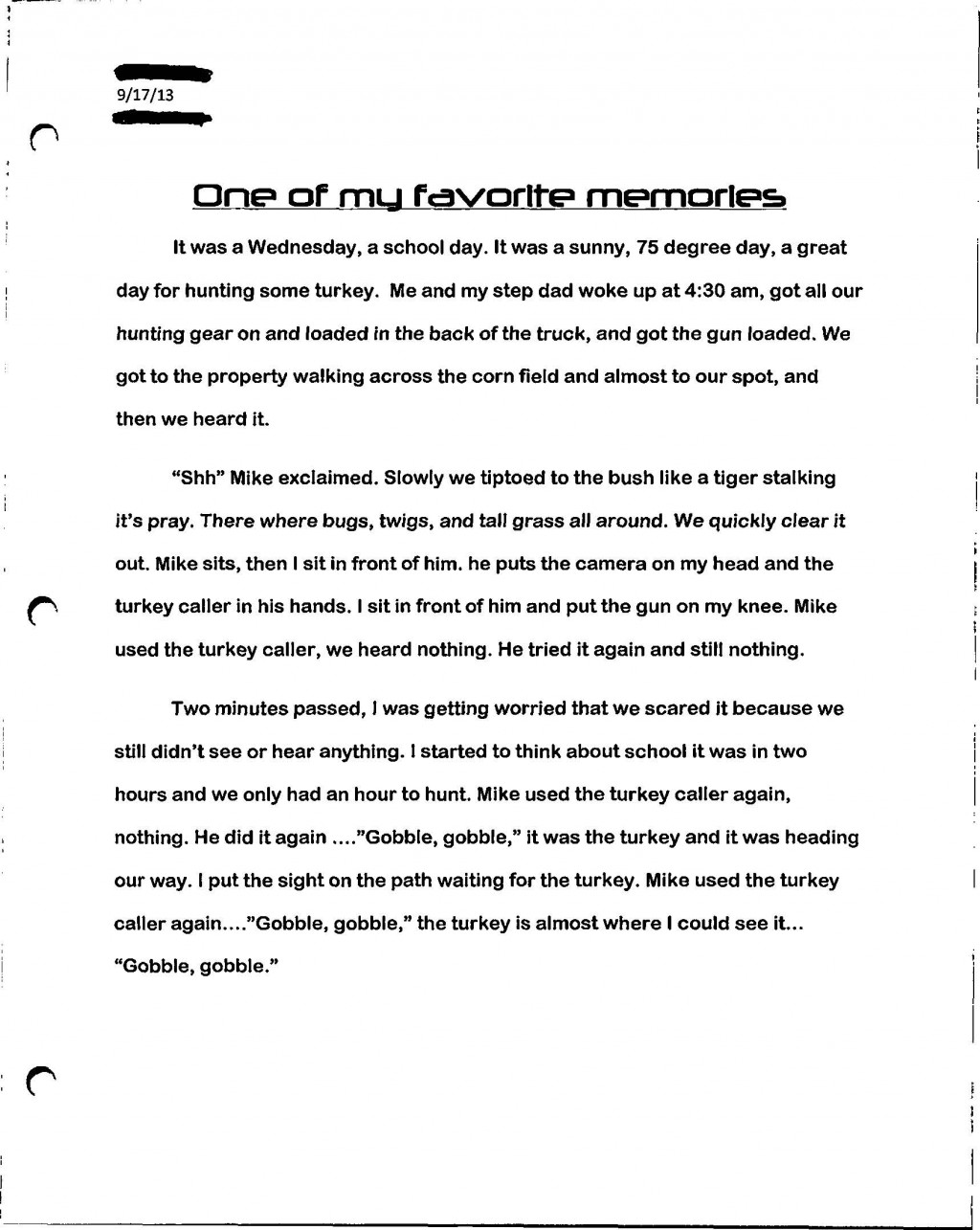 002 Paperexample2 Page 1 Essay Example Who Am I Amazing Examples For Students College How To Write A Good 'who I' Large