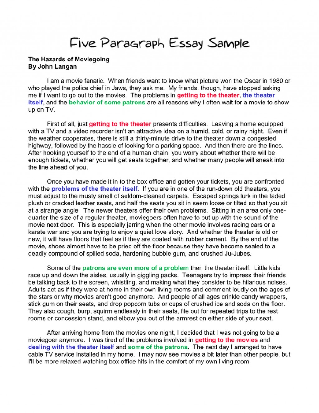 002 Paragraph Essay Sample Example Basic Outline An How To Start Sentence In First Second Write Third Body Conclusion Argumentative Stirring 5 Free Template Printable Large