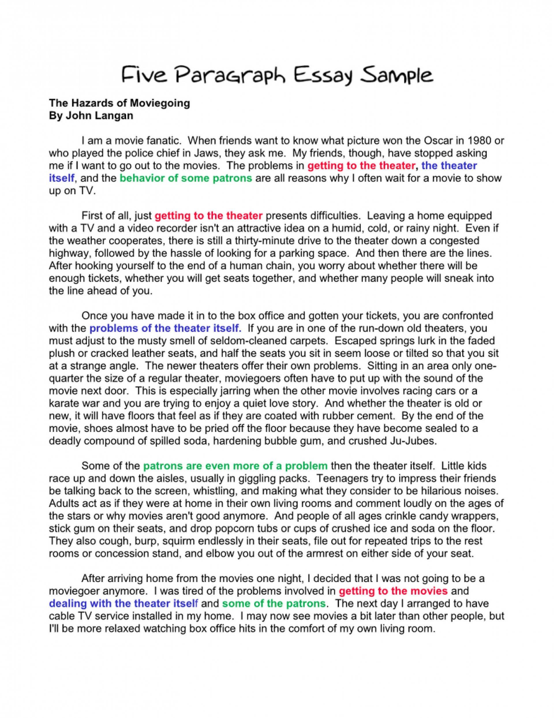 002 Paragraph Essay Sample Example Basic Outline An How To Start Sentence In First Second Write Third Body Conclusion Argumentative Stirring 5 High School Pdf Template Five 1920