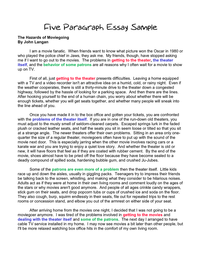 002 Paragraph Essay Sample Example Basic Outline An How To Start Sentence In First Second Write Third Body Conclusion Argumentative Stirring 5 Free Template Printable Full