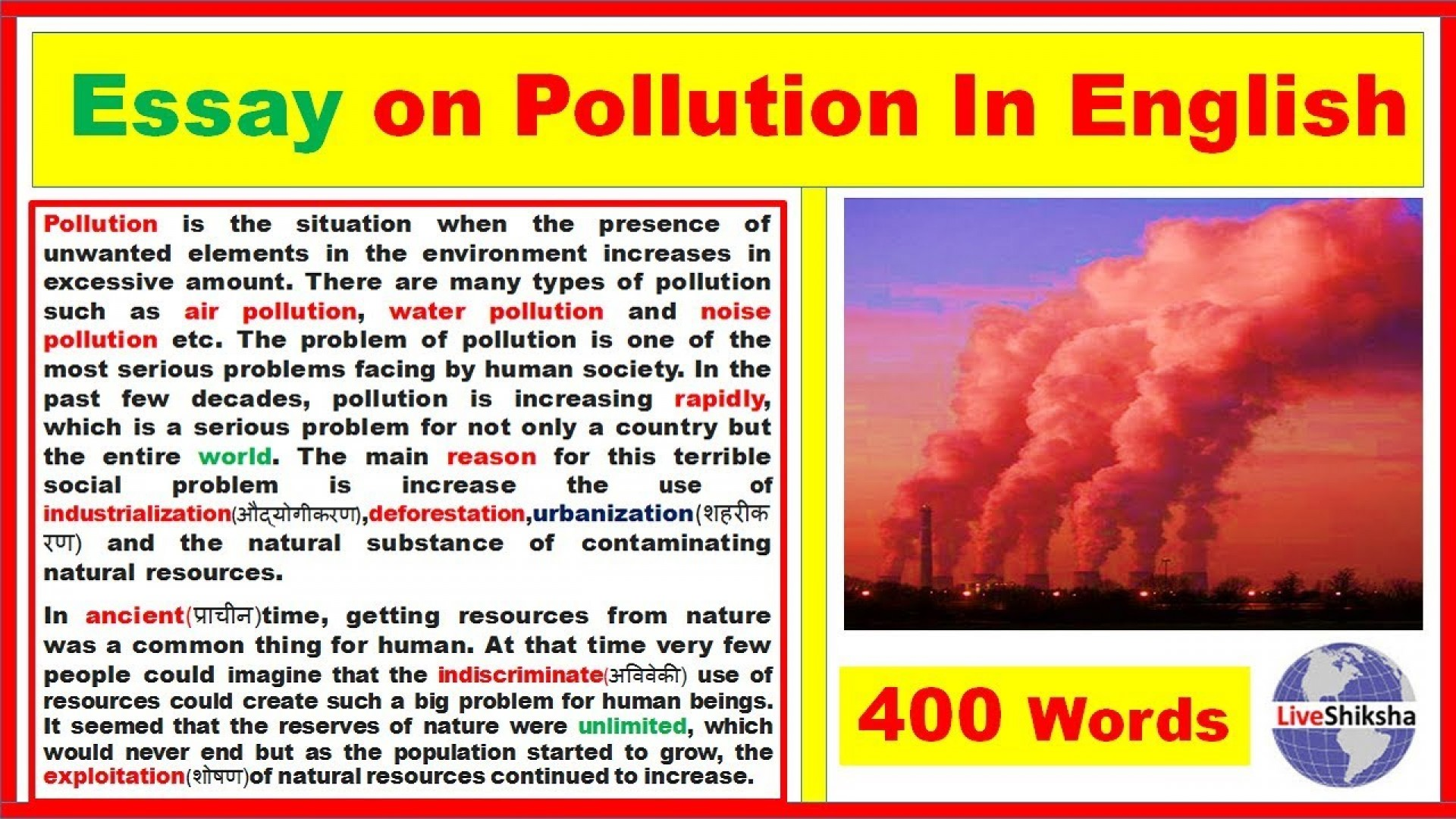 002 Pollution Essay Maxresdefault Remarkable Thesis Statement Air In English 1000 Words 1920