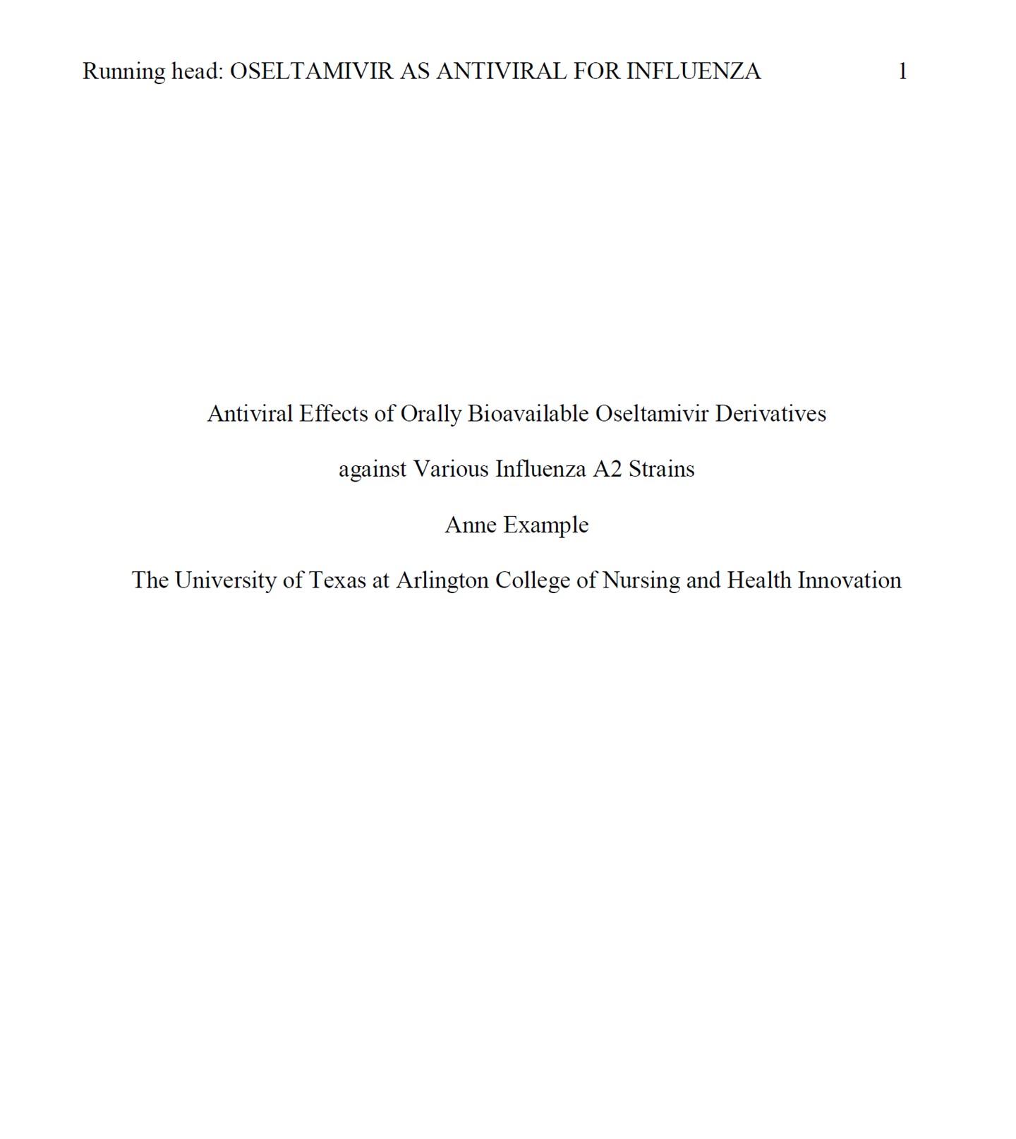 002 Presentation1 Essay Example Cover Page Impressive Apa Correct Title Proper Format Full