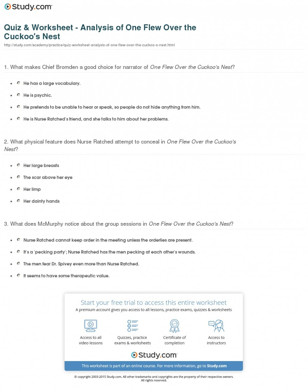 002 Quiz Worksheet Analysis Of One Flew Over The Cuckoo S Nest Essay Example Wonderful Cuckoos Cuckoo's Prompts Writing Questions Large