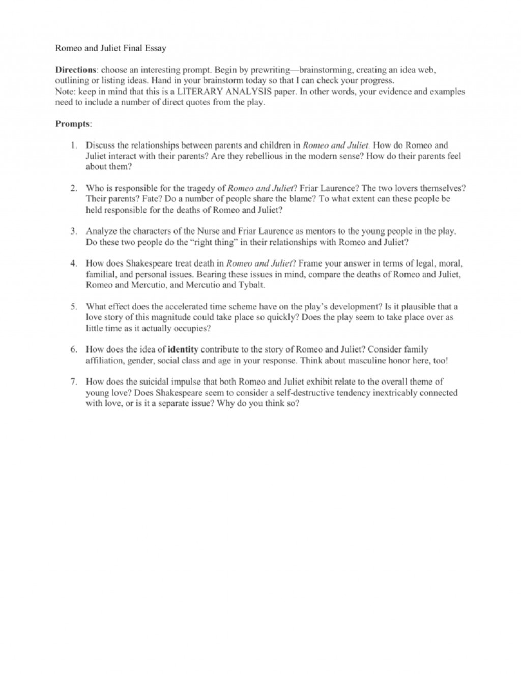 002 Romeo And Juliet Essay Topics 008016436 1 Astounding Pdf Questions Grade 10 Answers Large