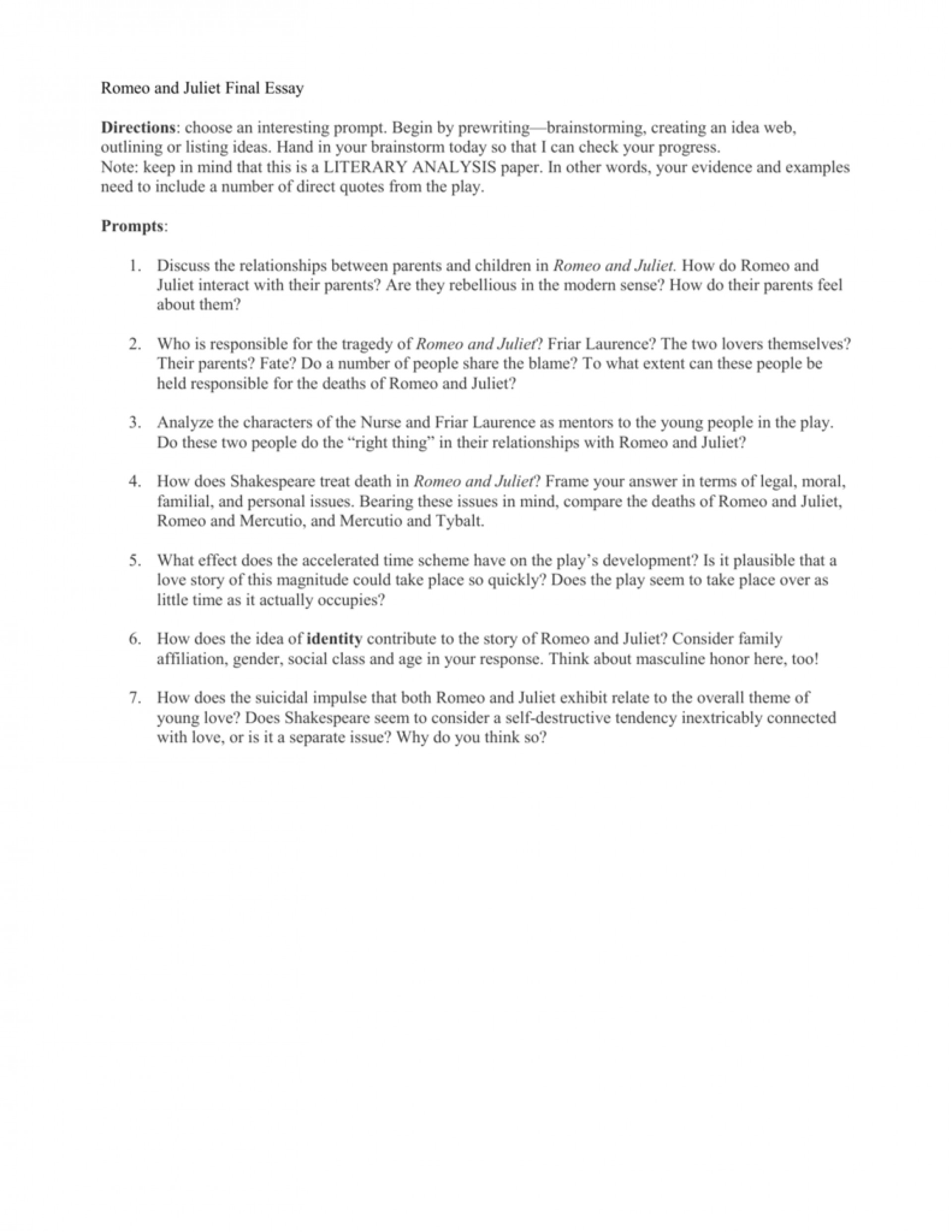002 Romeo And Juliet Essay Topics 008016436 1 Astounding Pdf Questions Grade 10 Answers 1920