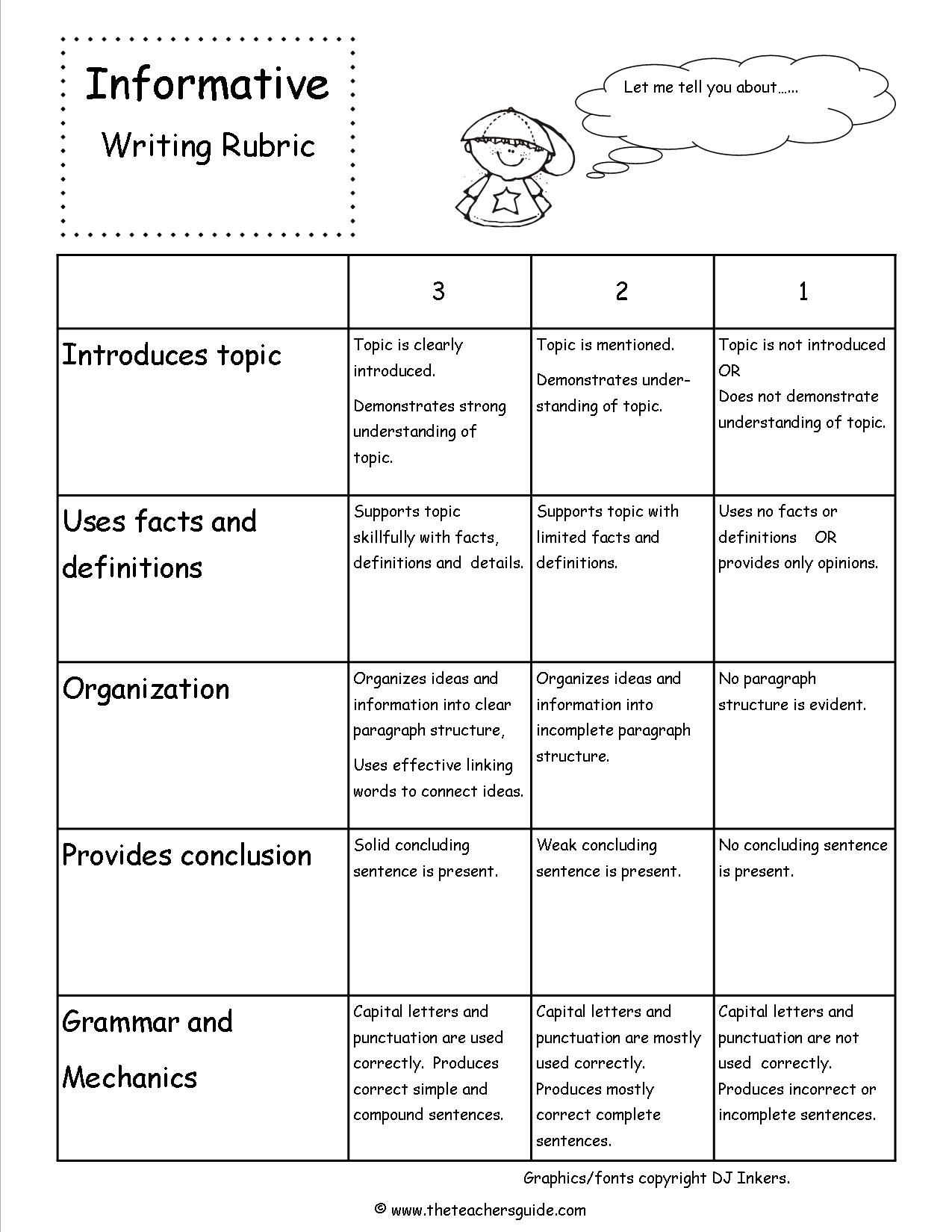 002 Rubrics For Essay Writing Example Rare Pdf High School Doc In English Full