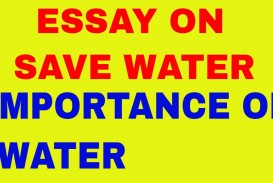 002 Save Water Life Essay Words Example Stunning 300