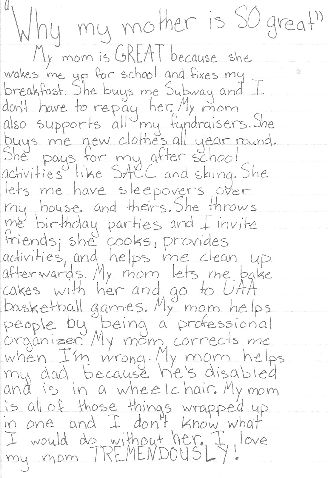 002 Scan Pic0048 Essay Example About Surprising Mom My Being Role Model Moments With Friends Happy Family Full