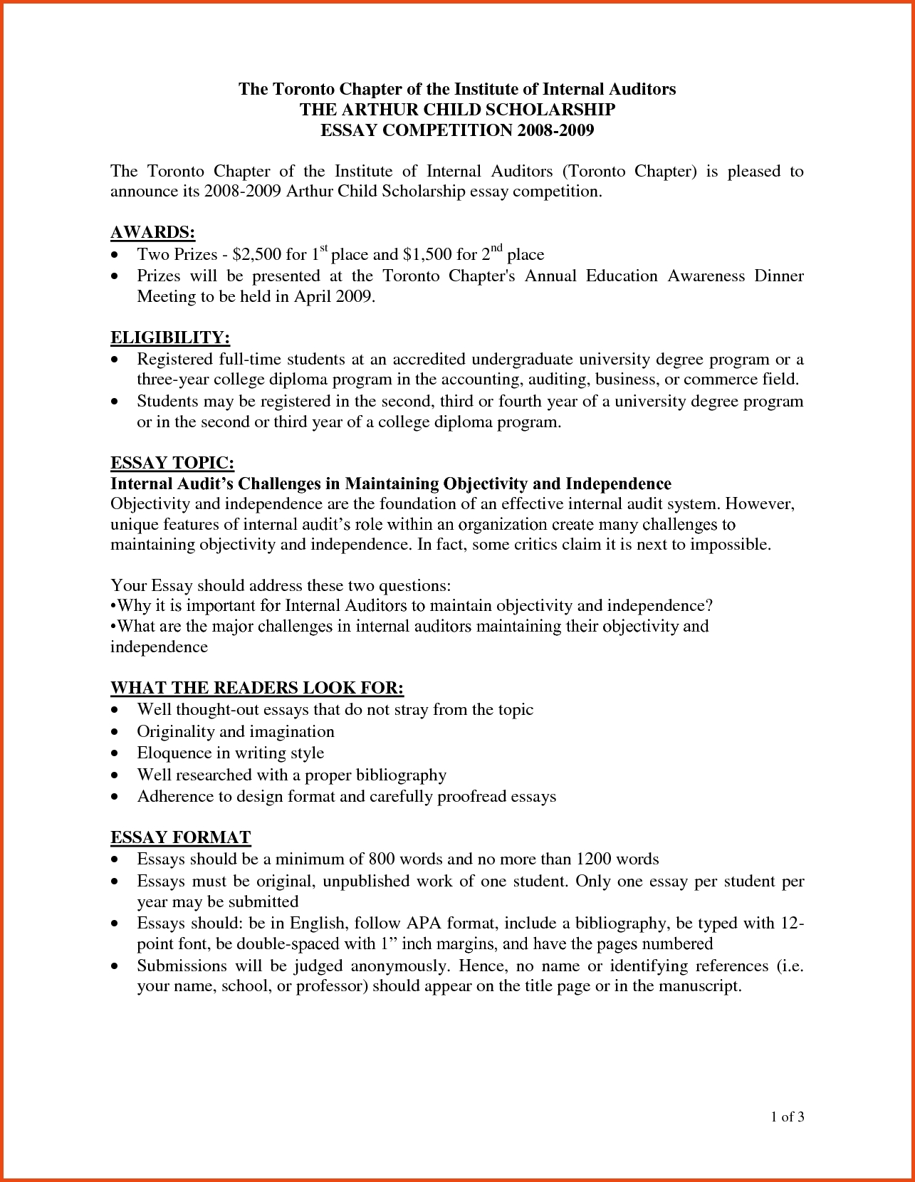 creative college essay formats
