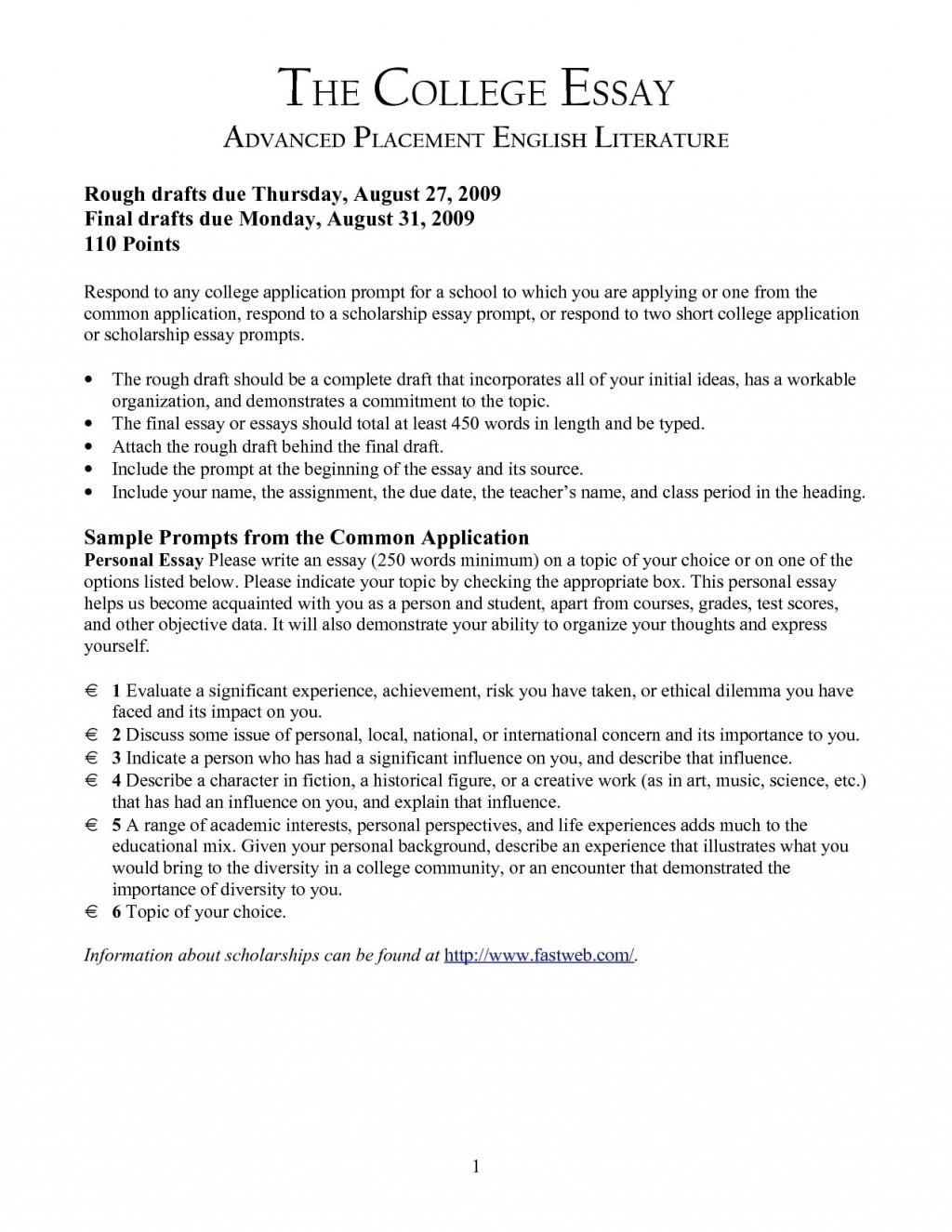 002 Scholarship Essay Prompts Example College Printables Corner Topics List Format Cover Letter And Bussin Magnificent Robertson 2018-19 Vanderbilt Washington Lee Johnson Large