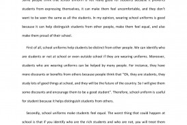 002 School Uniform Persuasive Essay Linh Nguyen Uniforms Has Many Should University Students Wear Have To Conclusion Must Not Exceptional Thesis Against Introduction