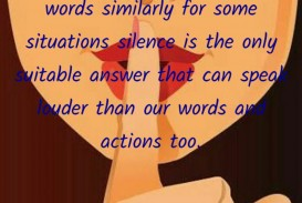 002 Silence Speaks Louder Than Words Quote As Actions Speak Quotedeepika Madhavan Yourquote Action Essay Surprising Pte Pdf Outline