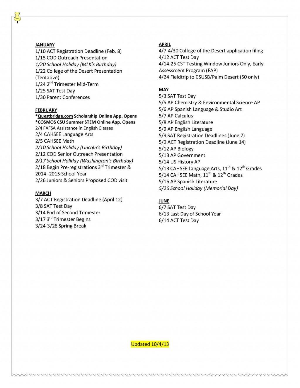 002 Spring Break Essay Junior20calendar2020152012 18 Page 2 Stupendous Plans Alternative Outline Large