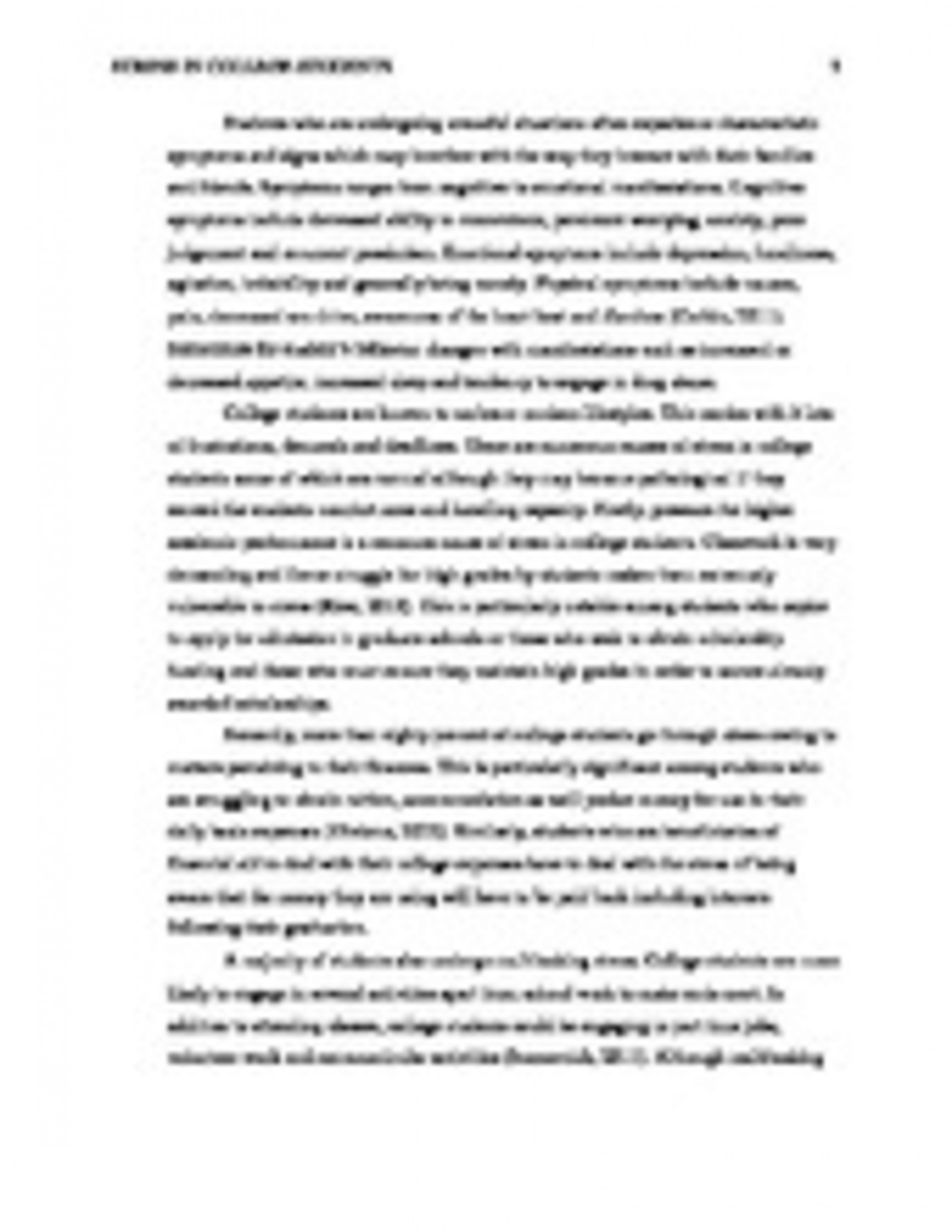 002 Stress Management Complete  Copypage2 Essay Awesome Outline Impact On Health Cause And Effect College Students1920