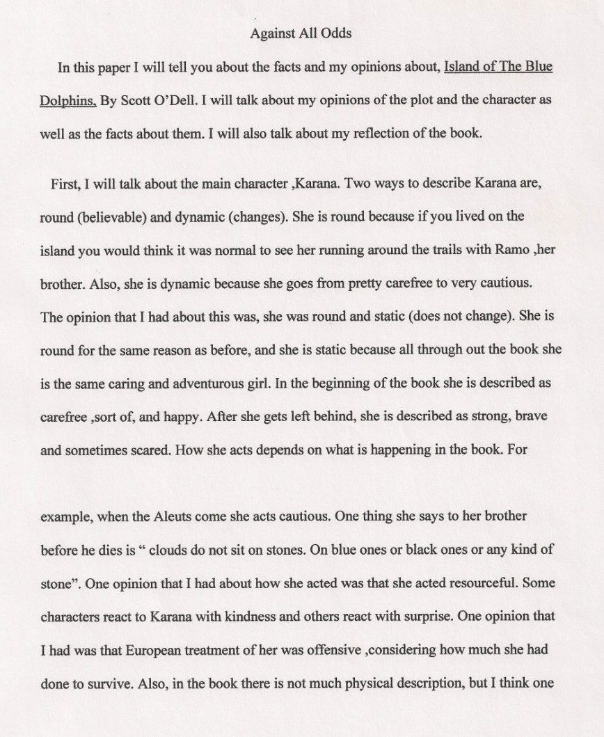 narrative essay about taking a risk