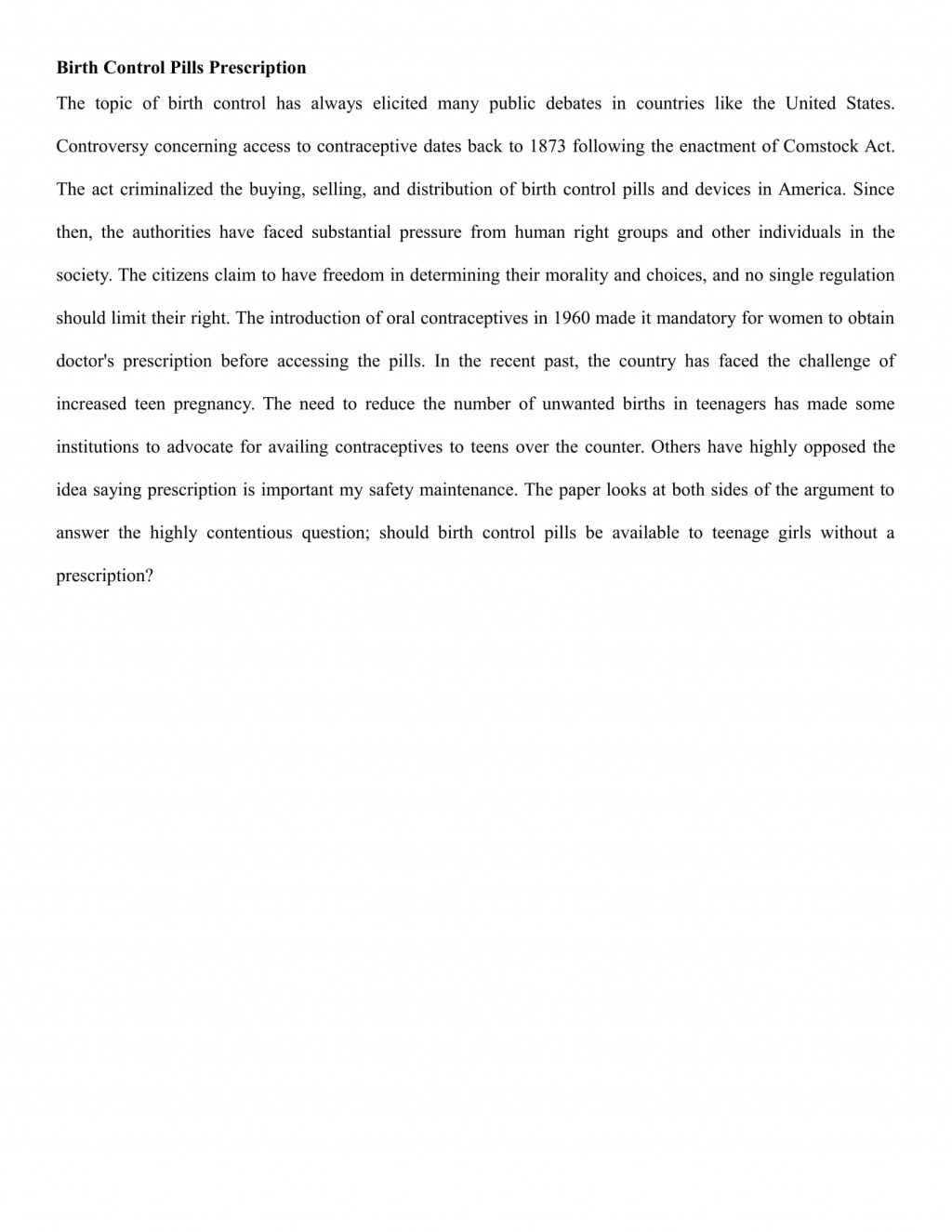 002 Teen Pregnancy Essay An On Teenage Birth Control Rights Term Paper Academic Service Argumentative About Pills Prescript Conclusion In The Philippines Introduction Example Of Short Amazing Pdf Body Large