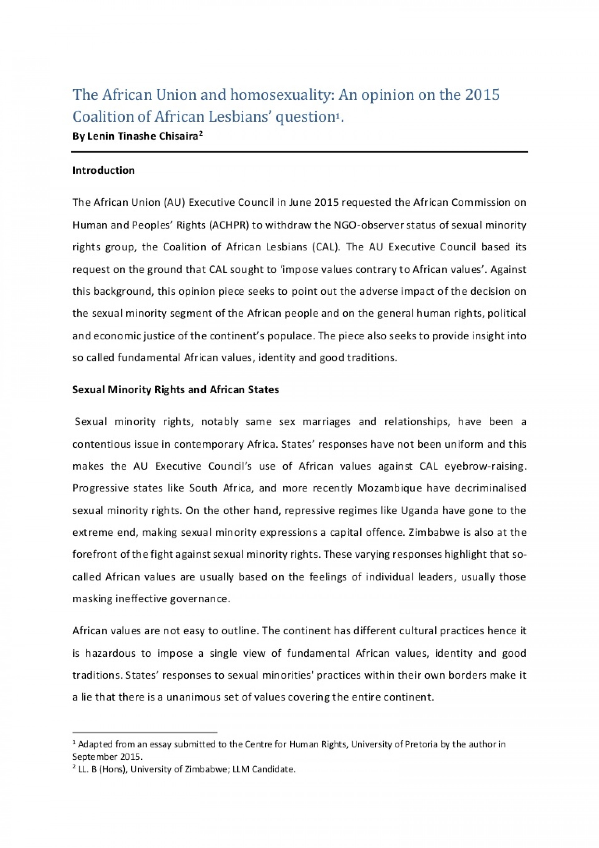 002 Theafricanunionandhomosexuality Anopiniononthecoalitionofafricanlesbiansquestion Thumbnail Essay Example Unbelievable Coalition Upload Help Prompt 1 1920