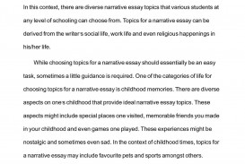 002 Topics For Narrative Essay Example Imposing A Essays College Students 3
