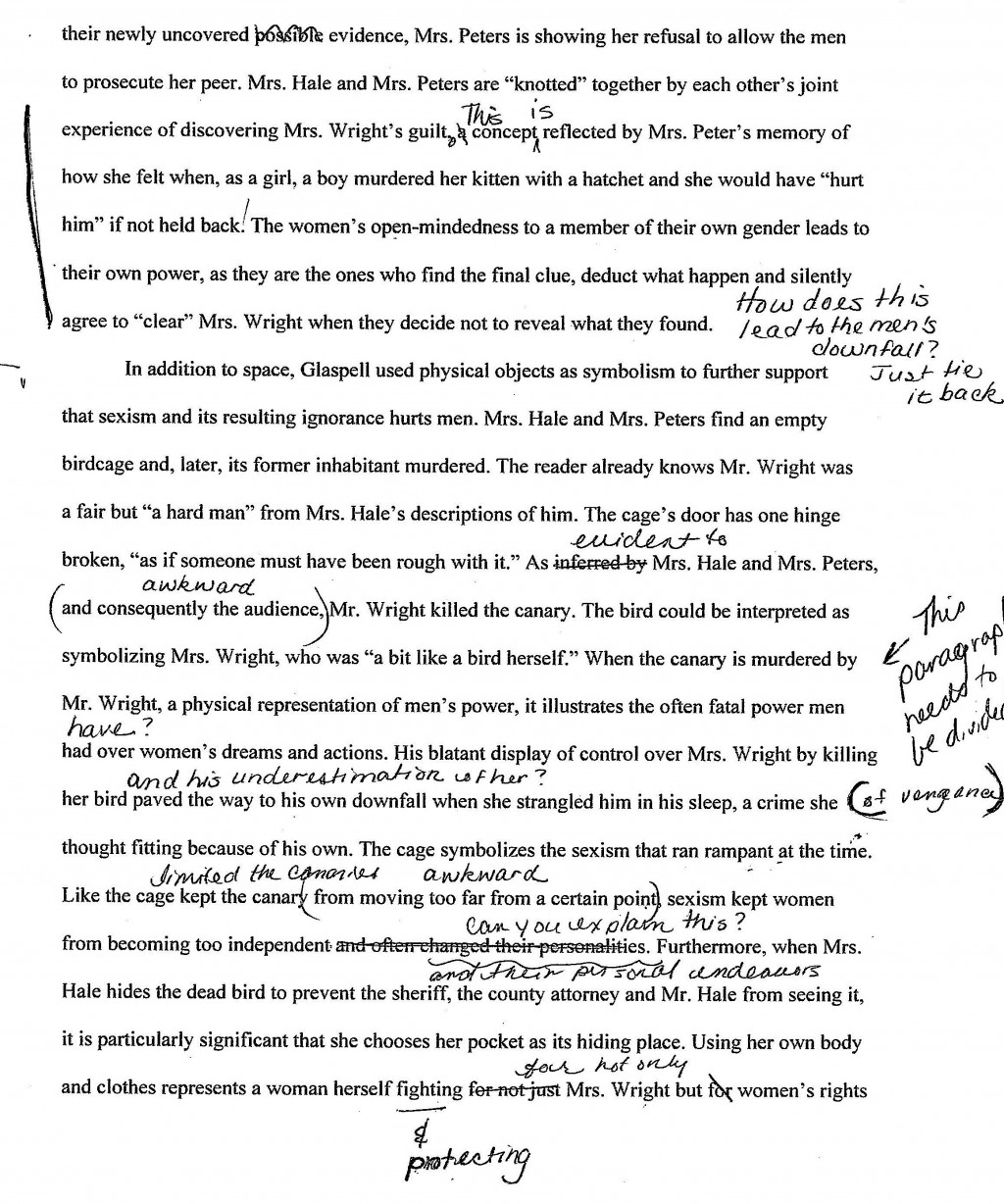 002 Trifles Essay Example Formidable Questions Feminism Topics Large