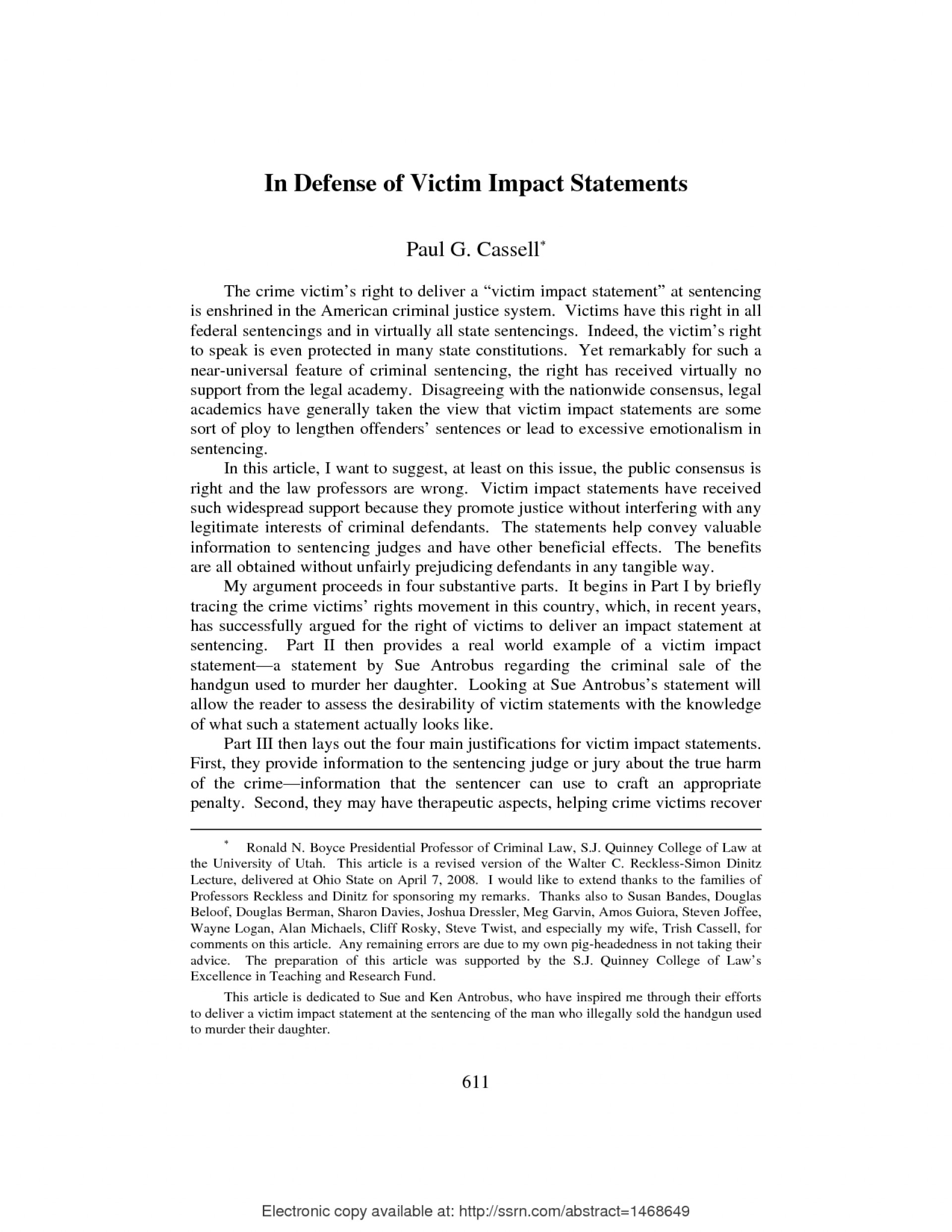 002 Victim Impact Statement Example S8vmh32cs On Bullying Striking Essays And Harassment In Schools Persuasive Essay Pdf 1920