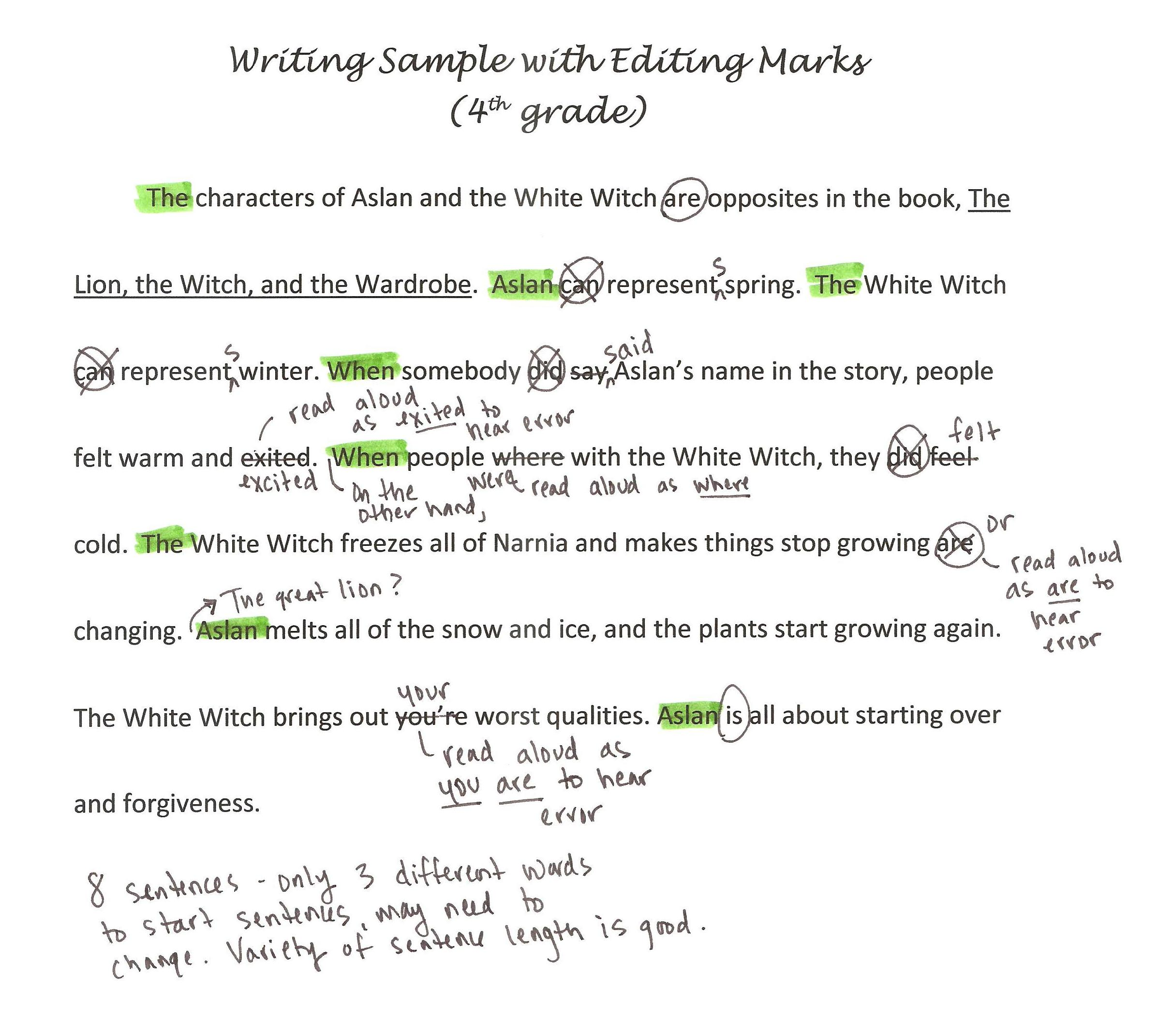 002 Writing Sample With Editing Marks1 Free Essay Checker For Grammar Incredible Full