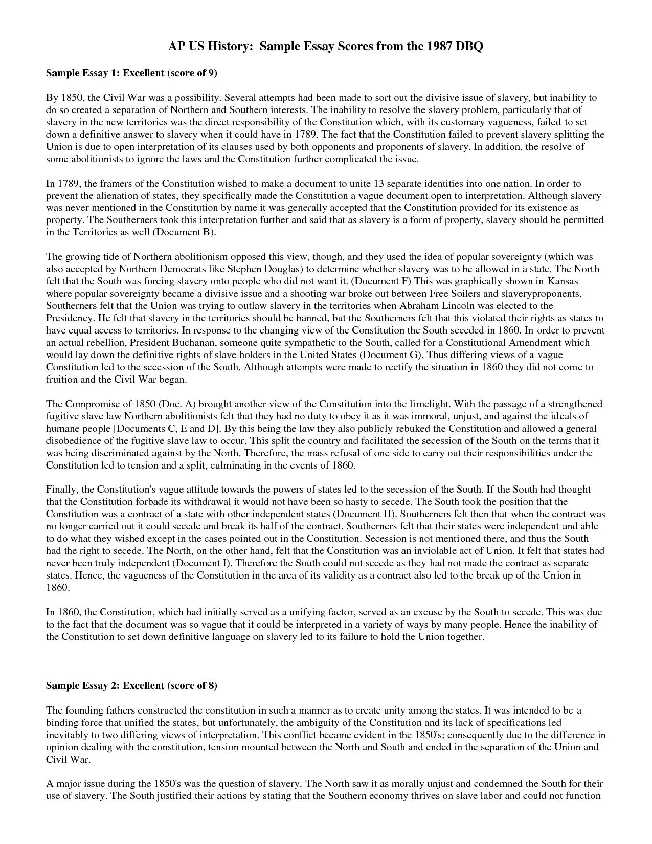 002 Ybw4oskdzu Essay Example Sample Magnificent Dbq 5th Grade Ap Euro Global History Full