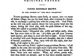 002 Young Goodman Brown Essay Example  The New England Magazine April 1835 Beautiful Writing Prompt Topics Theme