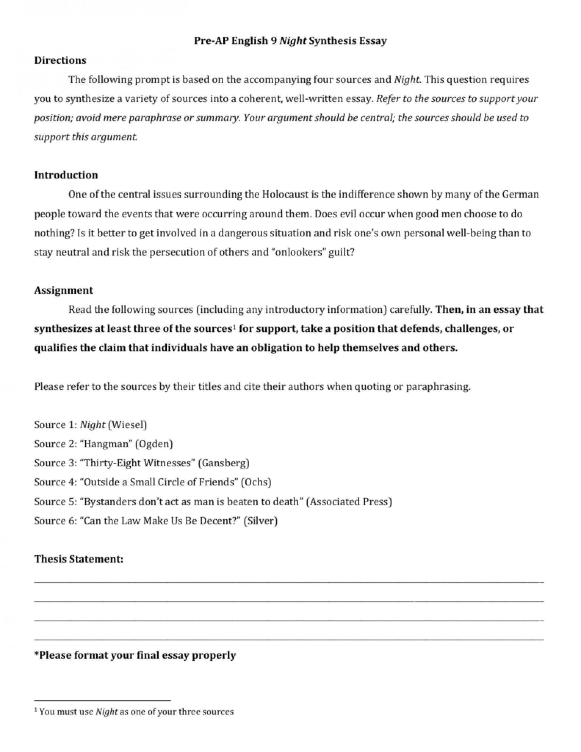 003 006963363 1 Synthesis Essay Sensational Outline Format Ap Lang 1920