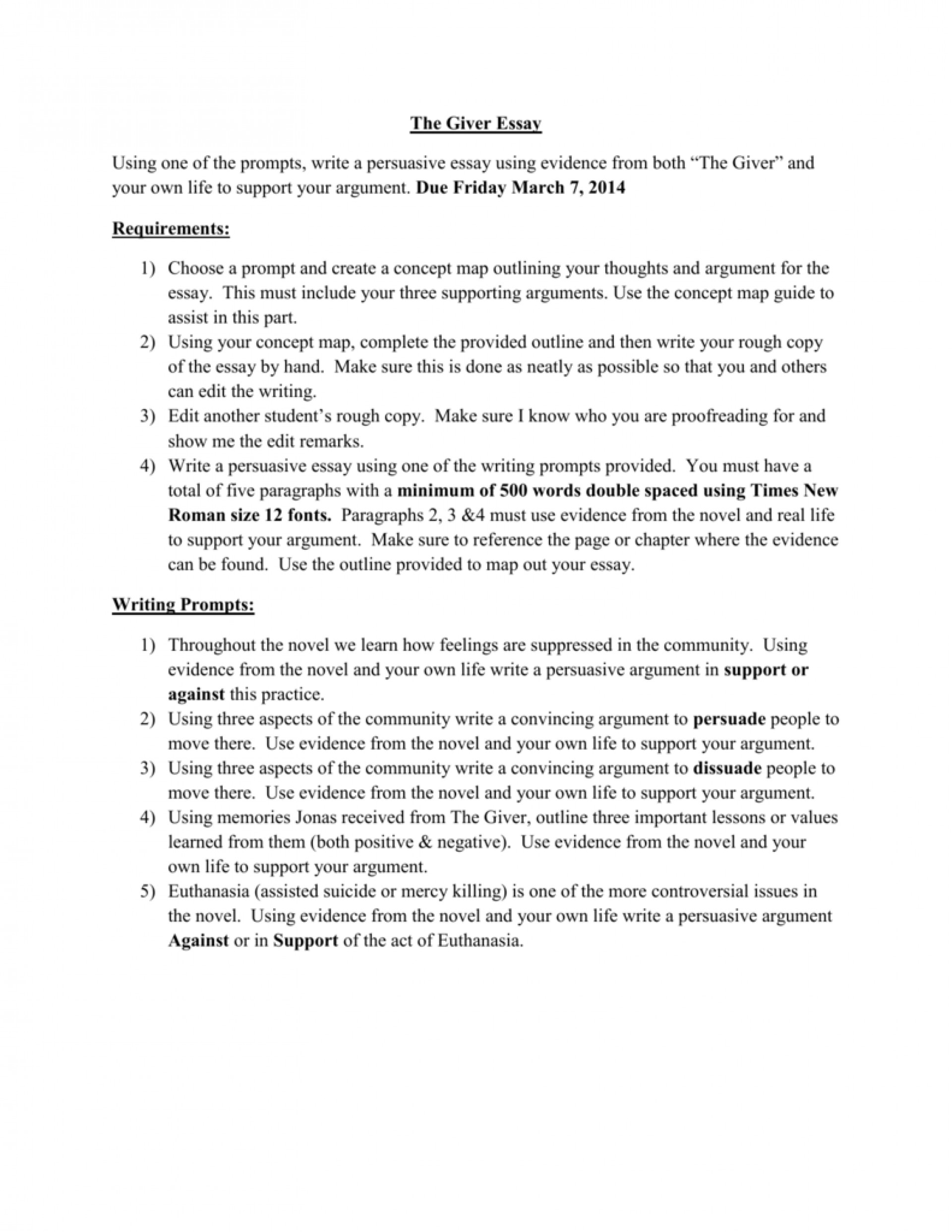 003 007211914 1 Essay Example The Fearsome Giver Topics Ideas Questions 1920