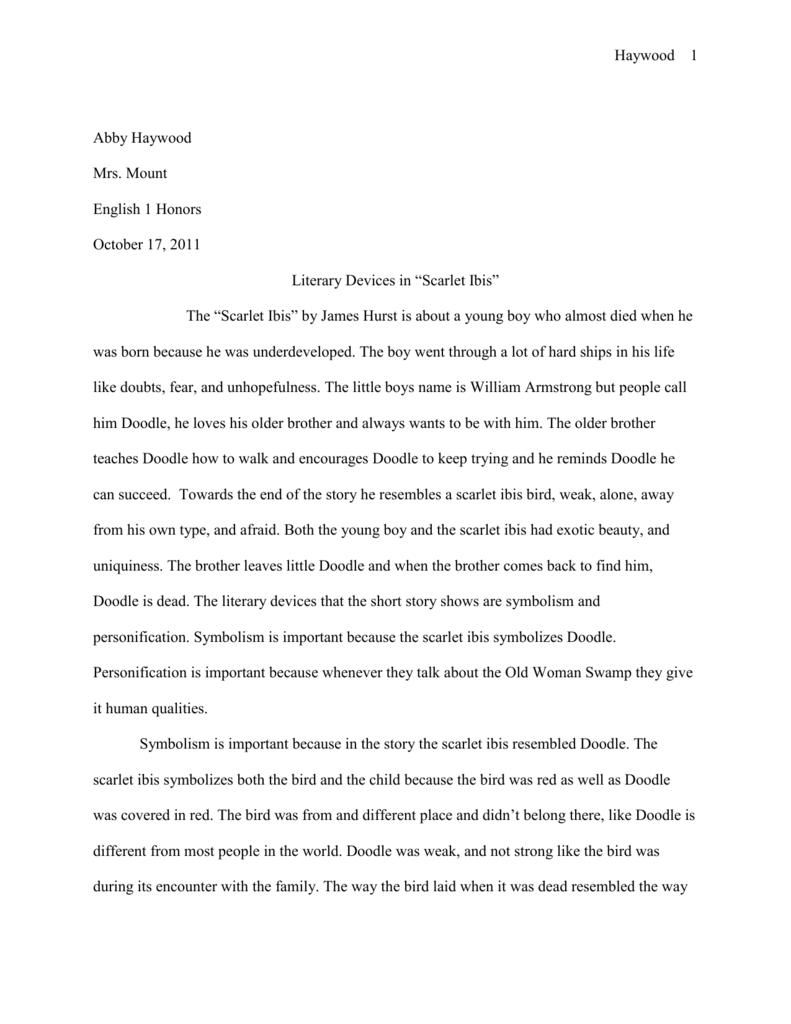 003 009067892 1 The Scarlet Ibis Essay Best Thesis Questions Discussion Full