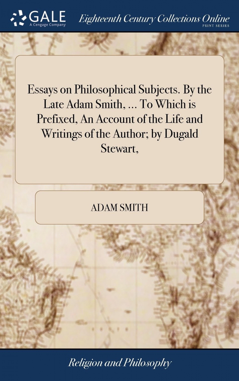 003 710kw3nycfl Essays On Philosophical Subjects Essay Best Smith Pdf 1920