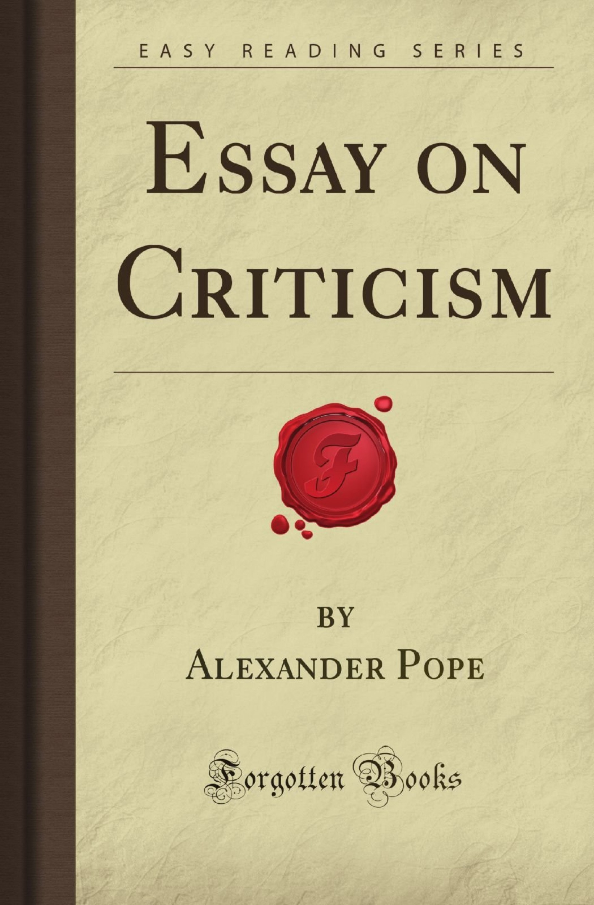 003 71nacz5cahl Essay Example Pope On Unique Criticism Part 2 Pope's Was Written In 1920