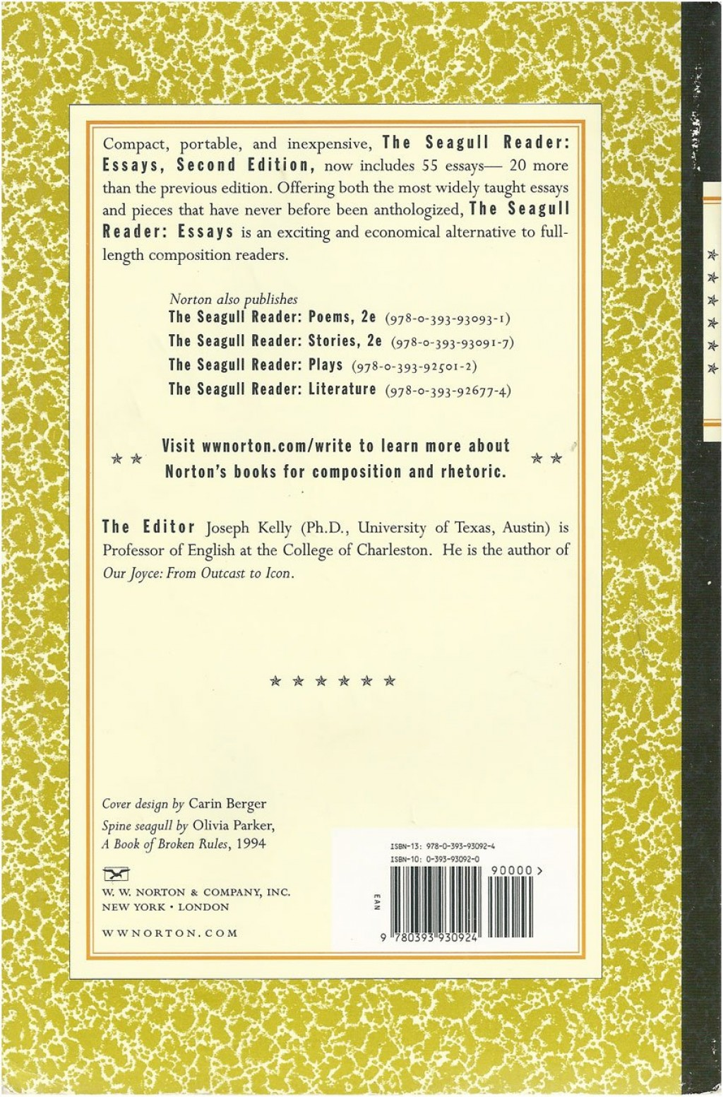 003 81kdkc0bdcl The Seagull Reader Essays 2nd Edition Pdf Essay Outstanding Free Large