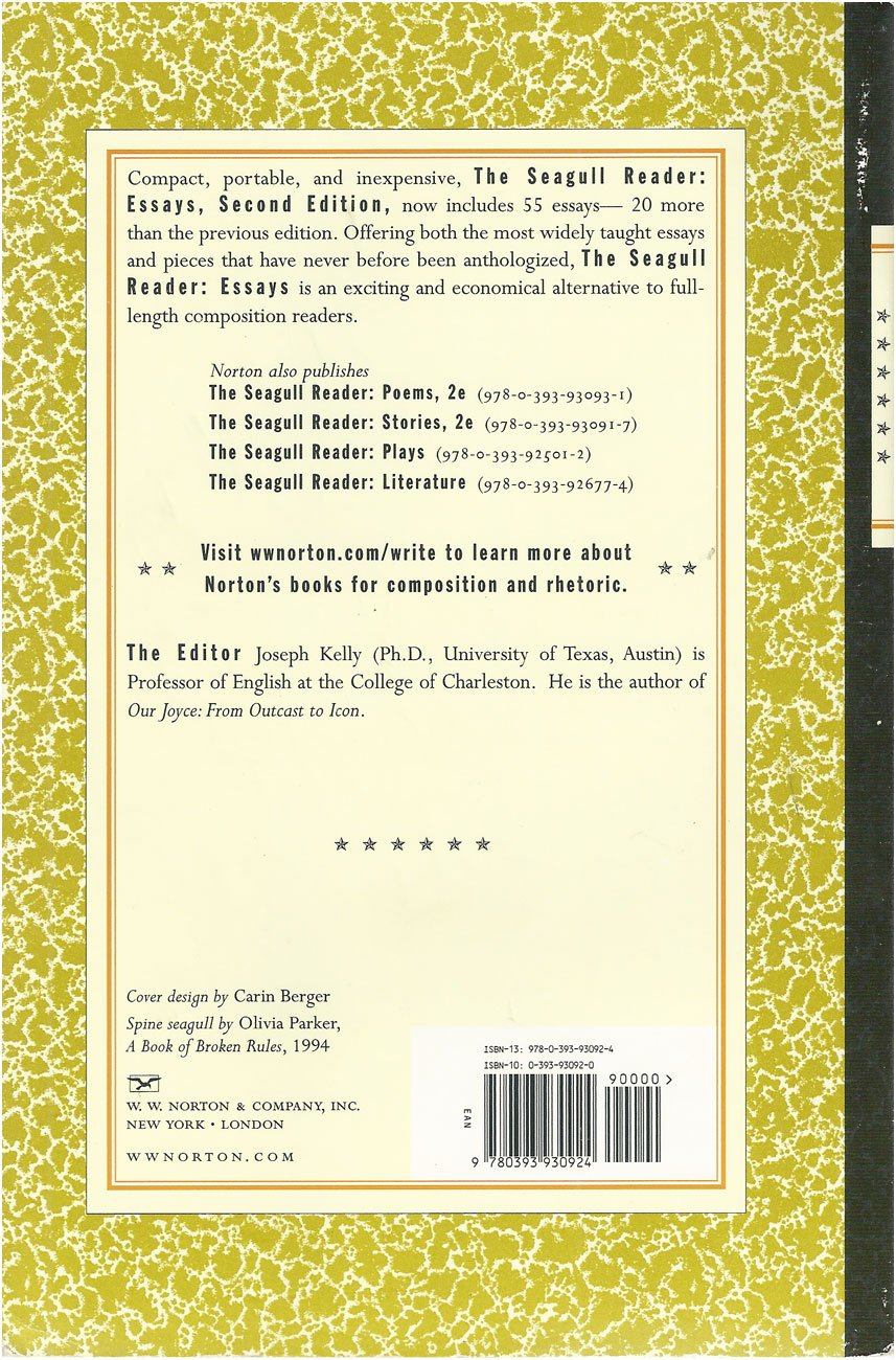 003 81kdkc0bdcl The Seagull Reader Essays 2nd Edition Pdf Essay Outstanding Free Full