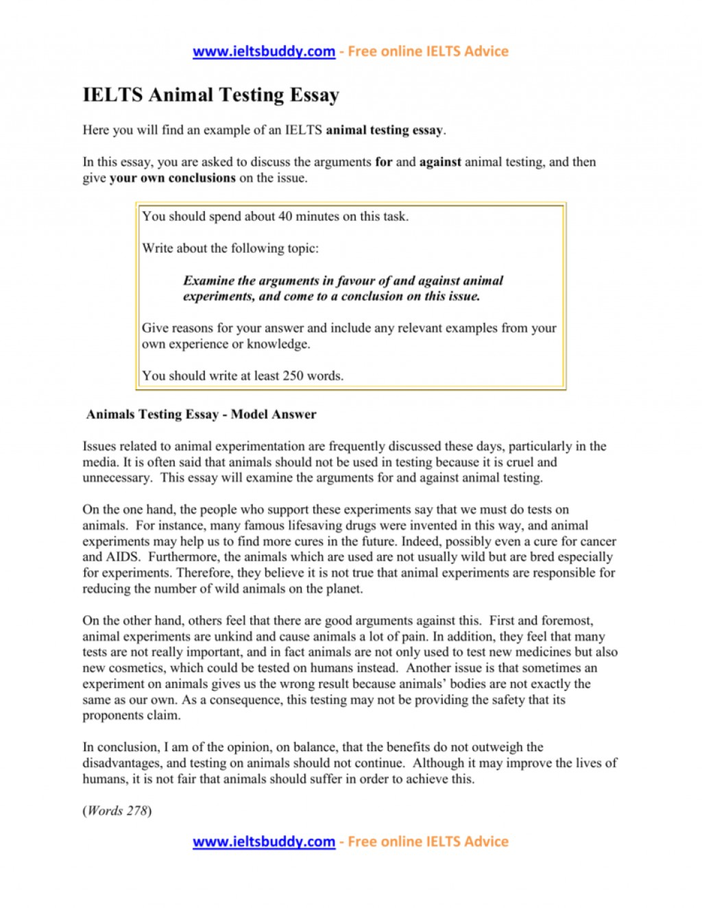 003 Against Animal Testing Essay Example 008917896 1 Imposing Introduction Persuasive Titles Large