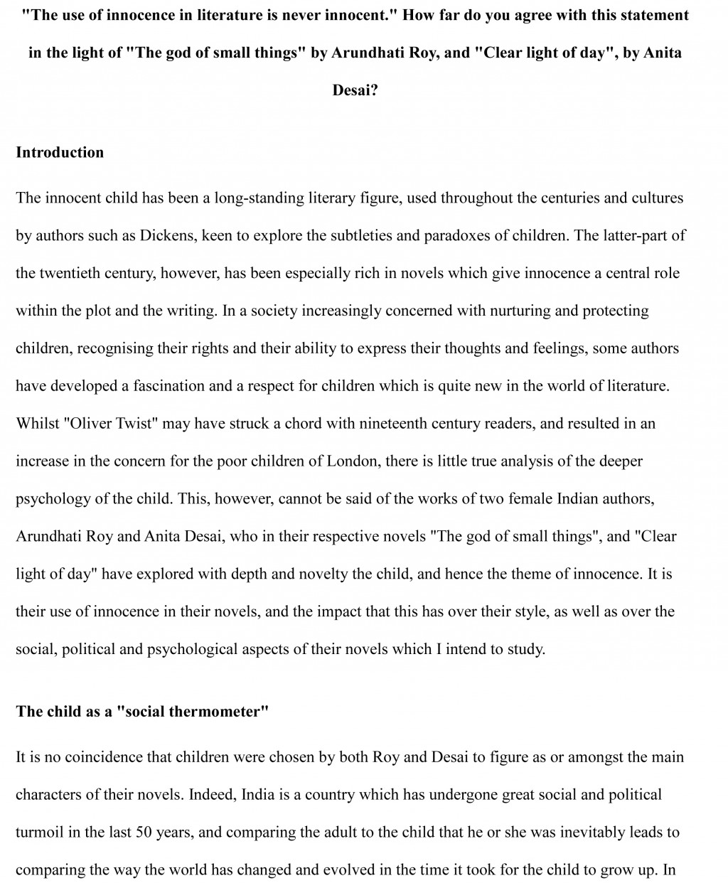 003 Alevel Course Work Sample Essay Example Stirring Literary 4th Grade Analysis Large