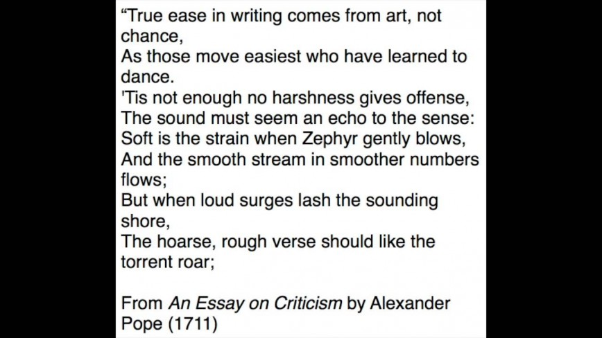 003 Alexander Pope Essay On Criticism Example Outstanding Ppt Part 2 Sparknotes