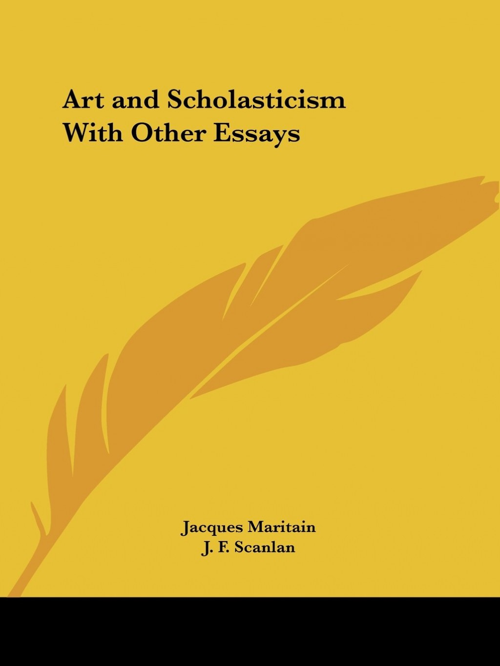 003 Art And Scholasticism With Other Essays 512bs37e1sml Essay Impressive Large
