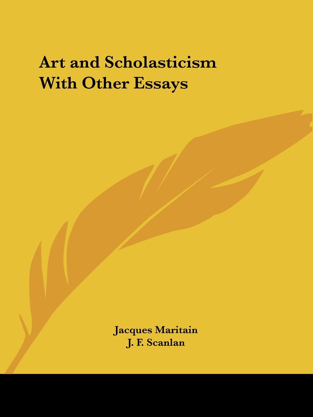 003 Art And Scholasticism With Other Essays 512bs37e1sml Essay Impressive Full